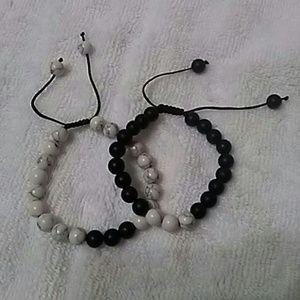 Jewelry - Natural stone couples yin yang bracelet